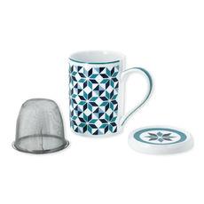 Tisanière motifs géométriques en porcelaine 25cl