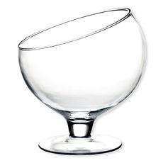 Bol à punch sur pied en verre 4,1L
