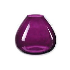 Vase prune en verre 18cm