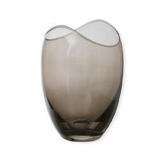 Vase en verre fumé 18cm