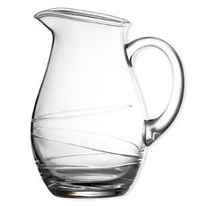 Pichet à anse en verre soufflé bouche 1,3L