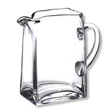 Pichet à anse en verre soufflé bouche 1,2L