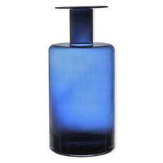 Vase bleu marine en verre soufflé bouche 50cm