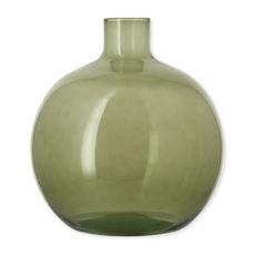 Vase dame-jeanne vert en verre recyclé 35cm