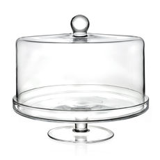 Cloche sur pied en verre 33cm