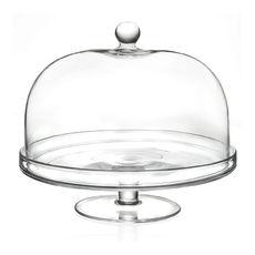 Cloche sur pied en verre 30cm