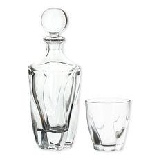 Service à whisky en verre - Coffret 7 pièces