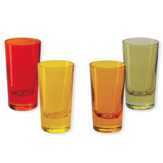 Verres à shooter en verre jaune 6cl - Lot de 4