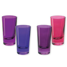 Verres à shooter en verre rose 6cl - Lot de 4