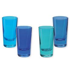 Verres à shooter en verre bleu 6cl - Lot de 4