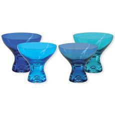 Coupes à glace en verre bleu 33cl - Lot de 4