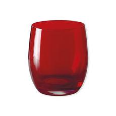 Gobelet bas en verre rouge 33cl