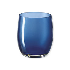 Gobelet bas en verre bleu 33cl