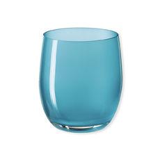 Gobelet bas en verre turquoise 33cl