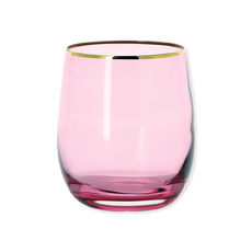 Gobelet en verre rose 25cl