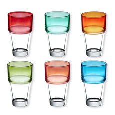 Gobelets haut couleurs assorties 38cl - Lot de 6
