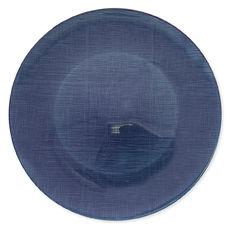 Assiette de présentation en verre bleu marine 33cm
