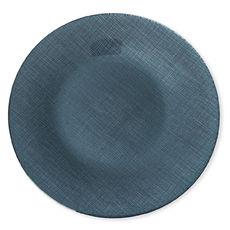Assiette plate en verre bleu 28cm