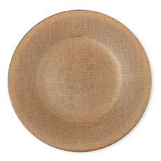 Assiette plate en verre orange 28cm