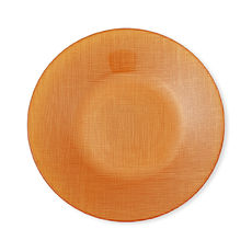 Assiette dessert en verre orange 21cm
