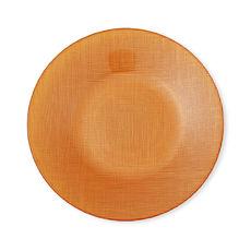 Assiette dessert en verre orange 21cm