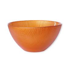 Saladier en verre orange 22cm