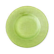 Assiette dessert en verre vert 21cm