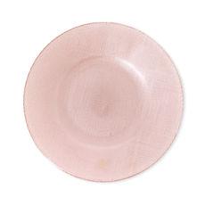Assiette dessert en verre rose 21cm