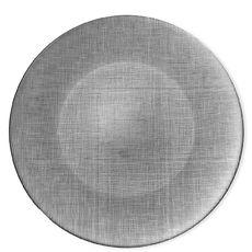 Assiette plate en verre gris 28cm