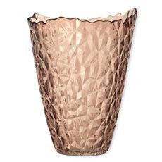 Vase en verre ambre à relief 29cm