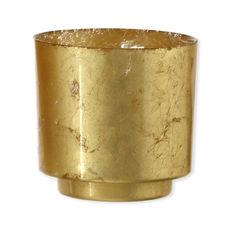 Photophore en verre doré 15cm