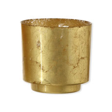 Photophore en verre doré 10cm - Lot de 2