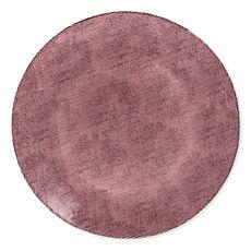 Assiette de présentation en verre rose 32cm
