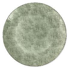 Assiette de présentation en verre vert 32cm