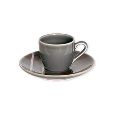 Tasse à café en grès gris foncé 10cl