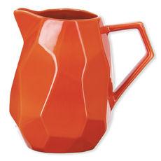 Pichet en grès orange 1,4L