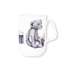Mug en porcelaine fine décor tambour 27cl