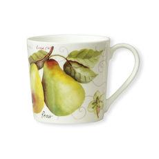 Mug en porcelaine fine décor poire 35cl