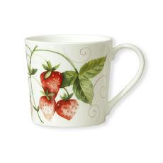 Mug en porcelaine fine décor fraise 35cl