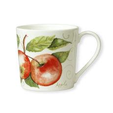 Mug en porcelaine fine décor pomme 35cl