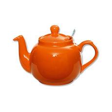 Théière en faïence avec filtre inox 1,1L orange