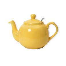 Théière en faïence avec filtre inox 1,1L jaune