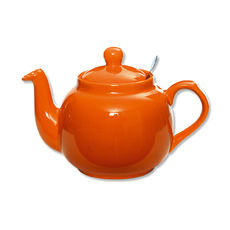 Théière en faïence avec filtre inox 1,5L orange