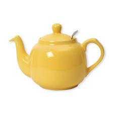 Théière en faïence avec filtre inox 1,5L jaune