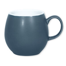 Mug bleu foncé en faïence 25cl