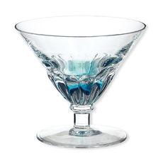 Coupelle à glace sur pied couleur bleu 21cl