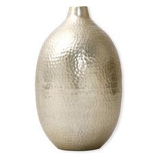 Vase en aluminium couleur champagne 35cm
