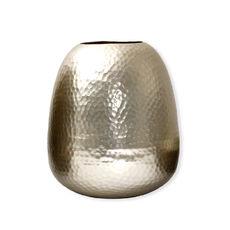 Vaseen métal martelé couleur champagne 28cm