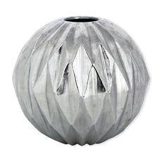 Vase origami en métal couleur argent 20cm