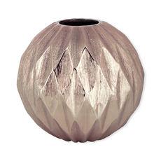 Vase origami en métal couleur cuivre 15cm